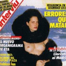Coleccionismo de Revista Interviú: REVISTA INTERVIU - Nº 558 - HELMUT NEWTON - MATIAS PRATS - MEDELLÍN - COMANDO MADRID. Lote 31831138