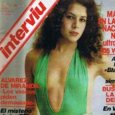Coleccionismo de Revista Interviú: REVISTA INTERVIU - Nº 160 - ANTONIO MOLINA Y BLAS PIÑAR - LA TUMBA DEL CHE - DC10 - AURELIA. Lote 44675077