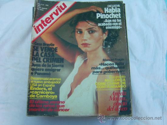 Interviu Nº 380 Angela Molina Desnuda Nadiuska Al Bano Habla Pinochet