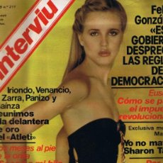Coleccionismo de Revista Interviú: REVISTA INTERVIU - Nº 211 - KARIN WELL - CASO MANSON-SHARON TATE - EUSKADI . Lote 33019152