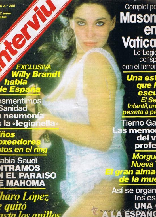 REVISTA INTERVIU Nº 265 - CIA A LA ESPAÑOLA - MASONES EN VATICANO - CHARO LOPEZ - NIÑOS BOXEADORES (Coleccionismo - Revistas y Periódicos Modernos (a partir de 1.940) - Revista Interviú)