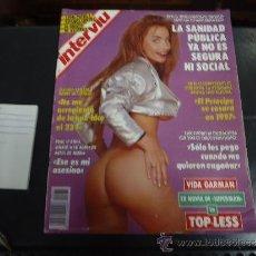 Coleccionismo de Revista Interviú: INTERVIU Nº 874 VIDA GARMAN TOP LESS. Lote 218704111