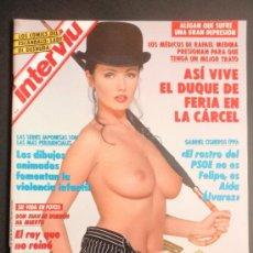 Coleccionismo de Revista Interviú: REVISTA INTERVIU Nº 884/VALERIE HENIN BOXEADORA EN TOPLESS/ROSA GRUBER DESNUDA. Lote 35413376