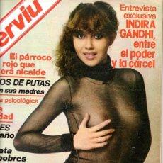 Coleccionismo de Revista Interviú: REVISTA INTERVIU Nº141 AÑO 1979 CRISTINA LAY (PORTADA) ENTREVISTA A INDIRA GANDHI . Lote 35994998