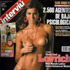Coleccionismo de Revista Interviú: INTERVIU MARIA JOSE MISS MUNDO LATINO. Lote 36070421