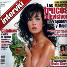 Coleccionismo de Revista Interviú: INTERVIU MARIA CAMPOY. Lote 36074555