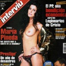 Coleccionismo de Revista Interviú: INTERVIU MARIA PINEDA OPERACION LETIZIA. Lote 36074708
