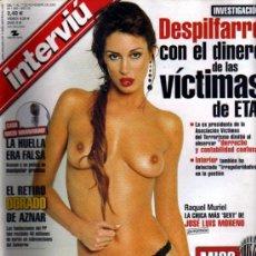 Coleccionismo de Revista Interviú: INTERVIU RAQUEL MURIEL. Lote 36100865