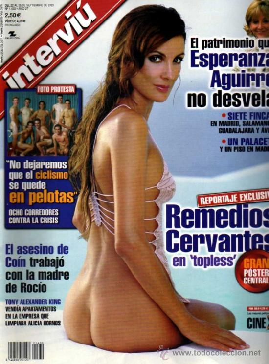 Resultado de imagen de interviu remedios cervantes desnuda