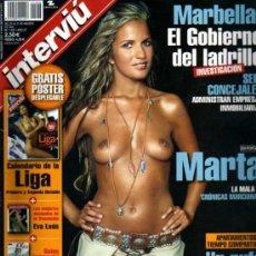 Coleccionismo de Revista Interviú: INTERVIU MARTA GH. Lote 93919779