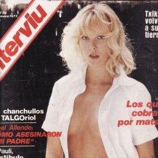 Coleccionismo de Revista Interviú: REVISTA INTERVIU Nº 36 AÑO 1977. PORTADA: AMANDA. . Lote 36103978