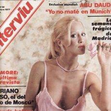 Coleccionismo de Revista Interviú: REVISTA INTERVIU Nº 38 AÑO 1977. DESTAPE: BRANDA. DOMINIQUE SANDA.. Lote 36104086