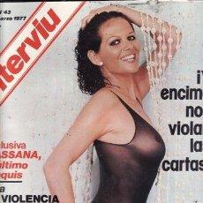Coleccionismo de Revista Interviú: REVISTA INTERVIU Nº 43 AÑO 1977. DESTAPE: BARBARA BOUCHET.. Lote 36104328