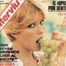 Coleccionismo de Revista Interviú: REVISTA INTERVIU Nº 44 AÑO 1977. PORTADA: BÁRBARA REY. SKU.. Lote 36104360
