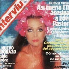 Coleccionismo de Revista Interviú: REVISTA INTERVIU Nº 386 AÑO 1983. PORTADA: SARA MONTIEL. . Lote 36109351