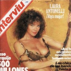 Coleccionismo de Revista Interviú: REVISTA INTERVIU Nº 387 AÑO 1983. DESTAPE: LAURA ANTONELLI. . Lote 36109406