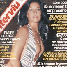 Coleccionismo de Revista Interviú: REVISTA INTERVIU Nº 130 AÑO 1978. PORTADA: PAULA PATTIER. CHICAS: ADRIANA RUSSO. . Lote 36164193