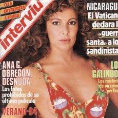 Coleccionismo de Revista Interviú: REVISTA INTERVIU Nº 430 AÑO 1984. PORTADA: ANA OBREGÓN. . Lote 36207617