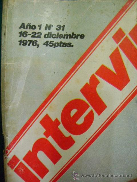 Coleccionismo de Revista Interviú: INTERVIU AÑO 1 Nº 31, 1976. ROCIO DURCAL, LUISA, CARRILLO, NARCISO PERALES - Foto 2 - 41815490