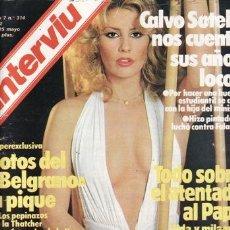 Coleccionismo de Revista Interviú: REVISTA INTERVIU Nº 314 AÑO 1982. CHICAS: MARIBEL, UNA CHICA ESTIMULANTE. LA RIZZOLI, MARCHA LARGA.. Lote 37006167