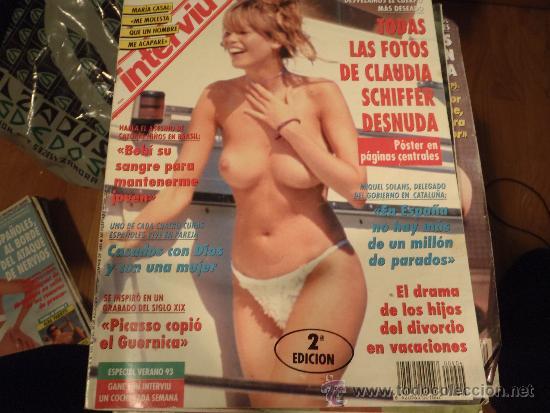 INTERVIU Nº 904 CLAUDIA SCHIFFER DESNUDA ,CON POSTER PAJINA CENTRAL (Coleccionismo - Revistas y Periódicos Modernos (a partir de 1.940) - Revista Interviú)