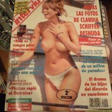 Coleccionismo de Revista Interviú: INTERVIU Nº 904 CLAUDIA SCHIFFER DESNUDA ,CON POSTER PAJINA CENTRAL. Lote 37057357