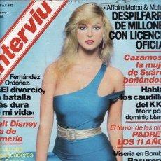 Coleccionismo de Revista Interviú: REVISTA INTERVIU Nº 242 AÑO 1981. CHICAS: BLANCA LONG. EL MOVIMIENTO EN MARCHA. KARIN SHUBERT, TODO . Lote 37217431