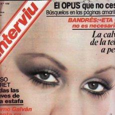 Coleccionismo de Revista Interviú: REVISTA INTERVIU N 186 AÑO 1979. PORTADA: ROSANNE. CHICAS: LAS CAMPEONAS DESCANSAN JUNTAS. MADELIEIN. Lote 37217993