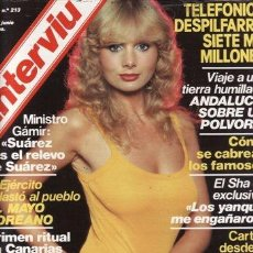 Collectionnisme de Magazine Interviú: REVISTA INTERVIU Nº 213 AÑO 1980. CHICAS: SYLVIA KRISTEL, CLASES PARTICULARES DE BUP. CARMENCITA UNA. Lote 37231993