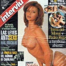 Coleccionismo de Revista Interviú: INTERVIU AÑO 1999 PRECINTADO INMA DEL MORAL Y PEDRO RUIZ. Lote 37611733