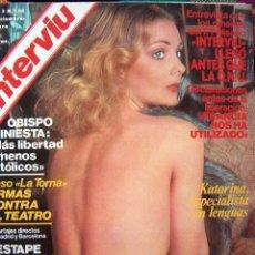 Coleccionismo de Revista Interviú: REVISTA INTERVIU Nº 85 / NORMA DUVAL, SOLVI STUBING, NICKY BRAVO, KATHARINA BERG, POSTER NAVIDAD. Lote 38141709