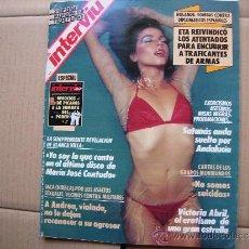 Coleccionismo de Revista Interviú: INTERVIU Nº 718,VICTORIA ABRIL-SOLO PARA MUJERES-LOURDES ORTIZ-Mª JOSE CANTUDO.. Lote 38476549