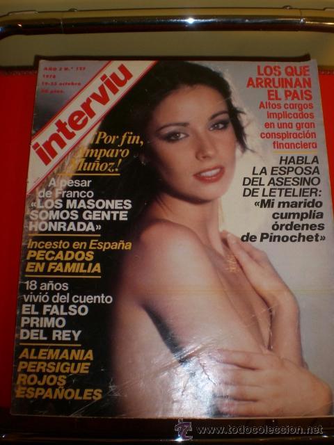 REVISTA INTERVIU. AMPARO MUÑOZ. AÑO 1978 (Coleccionismo - Revistas y Periódicos Modernos (a partir de 1.940) - Revista Interviú)