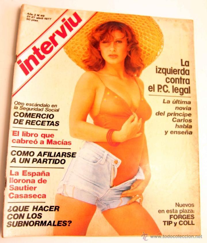 INTERVIU Nº 49 AÑO 2 MIREYA ROS (Coleccionismo - Revistas y Periódicos Modernos (a partir de 1.940) - Revista Interviú)