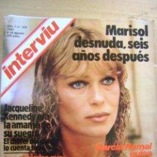 Coleccionismo de Revista Interviú: REVISTA INTERVIÚ 1982 Nº 325: MARISOL DESNUDA SEIS AÑOS DESPUÉS, JACKIE KENNEDY, PASIONARIA. Lote 41975915