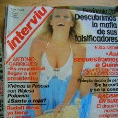 Coleccionismo de Revista Interviú: INTERVIÚ REVISTA 1981 Nº 259, ANTONIO GARRIGUES, WALESA, RUDOLF HESS, QUINI, ROCÍO JURADO. Lote 40457412