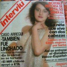 Coleccionismo de Revista Interviú: INTERVIÚ REVISTA 1981 Nº 250, CASO ARREGUI, ETA, TARRADELLAS, FALSO GENERAL, AMPARO LARRAÑAGA MERLO. Lote 40457571