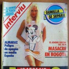 Coleccionismo de Revista Interviú: INTERVIU Nº496-13 AL 19 NOVIEMBRE 1985-FRANCISCO FRANCO-LEOPOLDO CALVO SOTELO-REAGAN Y GORBACHOV. Lote 41018643