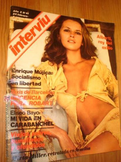 REVISTA - INTERVIU - Nº 41 AÑO 1977 EN PORTADA: ILEANA DEL MONTE LA SALVAJE DOMADA (Coleccionismo - Revistas y Periódicos Modernos (a partir de 1.940) - Revista Interviú)