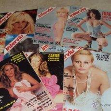 Coleccionismo de Revista Interviú: LOTE 128 REVISTAS INTERVIU AÑOS 70. Lote 53121266
