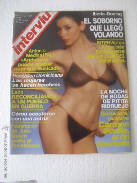Revista Interviu Nº 200 De 1980 Carmen Sevilla Al Fin Desnuda Marlene Jobert