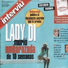 Coleccionismo de Revista Interviú: REVISTA INTERVIU Nº 1131 AÑO 1997. PORTADA: LADY DI MURIO EMBARAZADA DE 10 SEMANAS. . Lote 109355987