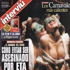 Coleccionismo de Revista Interviú: REVISTA INTERVIU Nº 1137 AÑO 1998. PORTADA: LOS CARNAVALES MAS CALIENTES. SOFIA MAZAGATOS, CARMEN JA. Lote 43291584