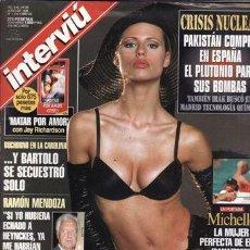 Coleccionismo de Revista Interviú: REVISTA INTERVIU Nº 1154 AÑO 1998. PORTADA. MICHELE LA MUJER DE EROS MAMAZZOTTI. . Lote 43291675