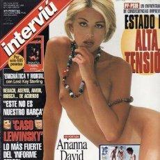 Coleccionismo de Revista Interviú: REVISTA INTERVIU Nº 1168 AÑO 1998. PORTADA:ADRIANA DAVID MISS ITALIA. RES. VERANO 98. CASO LEWINSKY.. Lote 43291851