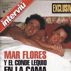 Coleccionismo de Revista Interviú: REVISTA INTERVIU Nº 1189 AÑO 1999. PORTADA: MAR FLORES Y EL CONDE LEQUIO EN LA CAMA. . Lote 109374663