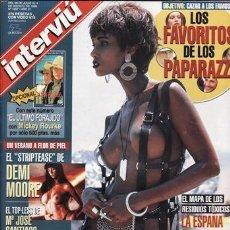 Coleccionismo de Revista Interviú: REVISTA INTERVIU Nº 1057 AÑO 1996. PORTADA: IMAN CON POSTER CENTRAL. EMMA THONPSON DESNUDA EN LESBOS. Lote 43336027