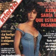 Coleccionismo de Revista Interviú: REVISTA INTERVIU Nº 838 AÑO 1992. PORTADA: ARANCHA DEL SOL. JUANITO VALDERRAMA: EL FISICO ES EL ARMA. Lote 210437762
