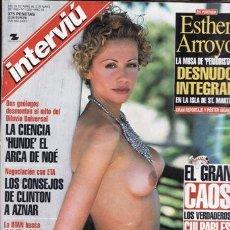 Coleccionismo de Revista Interviú: REVISTA INTERVIU Nº 1200 AÑO 1999. PORTADA: ESTHER ARROYO DESNUDO INTEGRAL. LOS CONSEJEROS DE CLINTO. Lote 219156252
