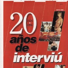 Coleccionismo de Revista Interviú: REVISTA INTERVIU EXTRA 20 AÑOS AÑO 1996.. Lote 43487850